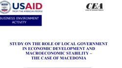 Улогата на локалните влади во економскиот развој и макроекономската стабилност – случајот со Македонија
