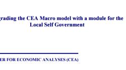 Надградба на ЦЕА макро моделот со модул за локални самоуправи
