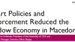 Smart Policies and Enforcement Reduced the Shadow Economy in Macedonia