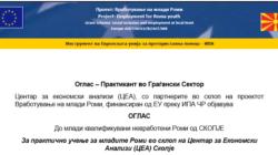 Оглас за практично учење за младите Роми во склоп на Центар за Економски Анализи (ЦЕА) Скопје