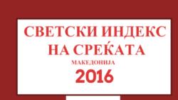 Светски индекс на среќата, Македонија 2016