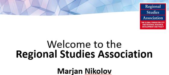 Presentation Info for Regional Studies Association, Marjan Nikolov RSA Ambassador of Macedonia