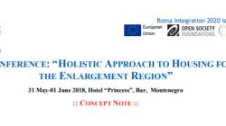 """Пријава за регионална конференција """"HOLISTIC APPROACH TO HOUSING FOR ROMA IN THE ENLARGEMENT REGION"""