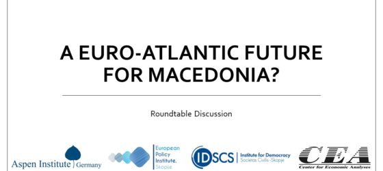 [Roundtable discussion] A Euro-Atlantic Future for Macedonia? Event Follow Up