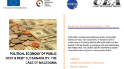 "New CEA analysis: ""Political Economy of Public Debt and Public Debt Sustainability: The Case of Macedonia"""