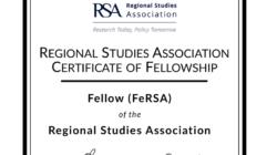 Марјан Николов назначен за RSA Fellow на Здружението за регионални студии за 2021
