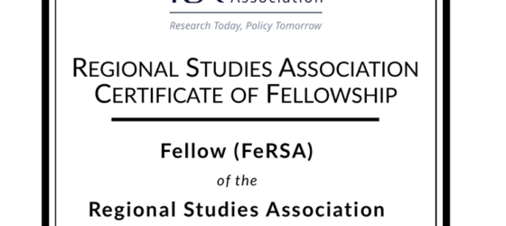 Marjan Nikolov appointed as the new RSA Fellow for 2021